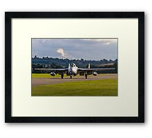 DH100 Vampire FB.6 PX-K LN-DHY taxies in Framed Print