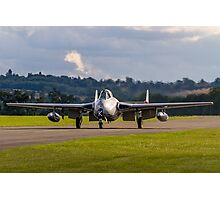 DH100 Vampire FB.6 PX-K LN-DHY taxies in Photographic Print