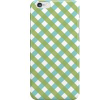 Blue And Green Hatchwork iPhone Case/Skin