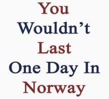 You Wouldn't Last One Day In Norway  by supernova23