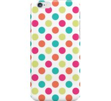 Colorful Polka Dots iPhone Case/Skin