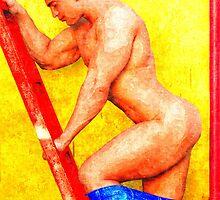 Ladder Hunk by BrianJoseph