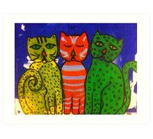 Three Kitties by Terri Holland Art Print