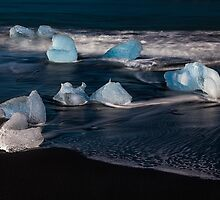 Ice on the Beach, Jökulsárlón  by LJWPhotography