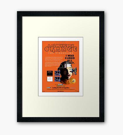 'A Clockwork Orange: The Videogame' Vintage Game Advert Framed Print