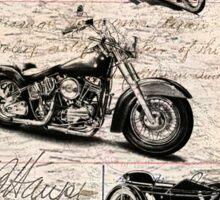 Vintage Harley Davidson Poster Sticker