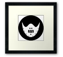 Halloween Hannibal Lector Ideology Framed Print
