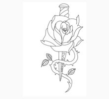 rose and dagger  Kids Tee