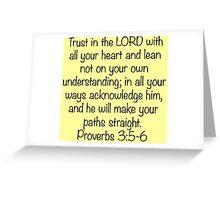 Proverbs 3:5-6 Greeting Card