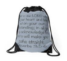 Proverbs 3:5-6 Drawstring Bag