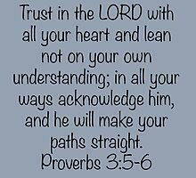 Proverbs 3:5-6 by Kate Sortino