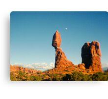 Balanced Rock Holga Style Photograph Canvas Print