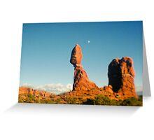 Balanced Rock Holga Style Photograph Greeting Card