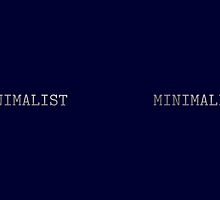 Dark Navy Blue and Silver Minimalist Typewriter Font by itsjensworld