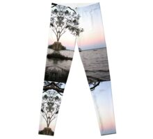 Trees at the sea edge portal. Leggings