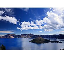 Big Sky over Crater Lake National Park Photographic Print