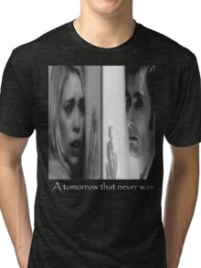 Rose Tyler and doctor Who Tri-blend T-Shirt