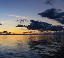 Panoramic Sunset in Thessaloniki I by V-Light