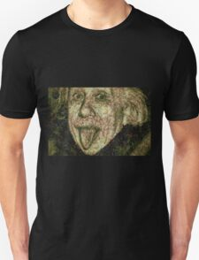 Albert Einstein Sticking His Tongue Vegetables Art T-Shirt