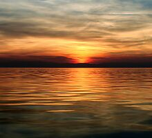 Panoramic Sunset in Thessaloniki II by V-Light