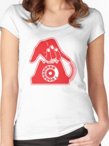 Telephone - Hand Gestures Women's Fitted Scoop T-Shirt