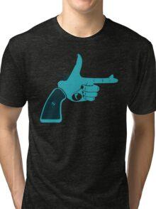 Pistol - Hand Gestures Tri-blend T-Shirt