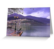 Kastoria Town near lake. (Greece) Greeting Card