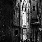 Shady passage Siena bw by borjoz