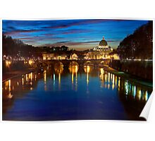 Rome sunset Poster