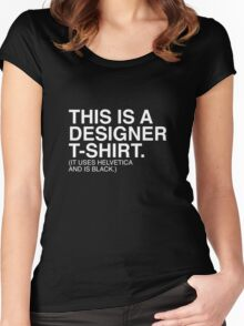 Designer T-Shirt Women's Fitted Scoop T-Shirt