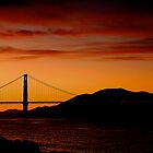Sunset in San Francisco by fernblacker