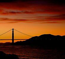 Sunset in San Francisco by fernblacker