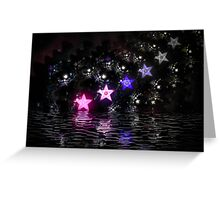 Falling Stars Greeting Card