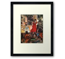 Edgar Degas French Impressionism Oil Painting Cafe Concert Framed Print