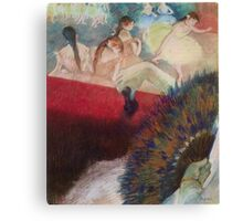 Edgar Degas French Impressionism Oil Painting Im Theater Canvas Print