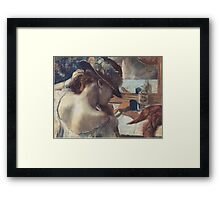 Edgar Degas French Impressionism Painting Woman In Hat Framed Print