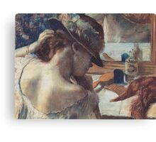 Edgar Degas French Impressionism Painting Woman In Hat Canvas Print