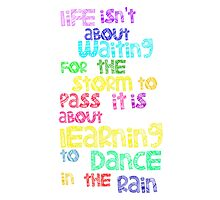 Dance In  The Rain Photographic Print