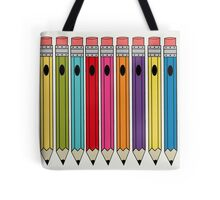 Retro Rainbow Pencils Tote Bag