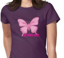Butterfly nerd with glasses (in pink) Womens Fitted T-Shirt