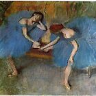 Edgar Degas French Impressionism Oil Painting Dancers by jnniepce