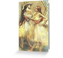 Edgar Degas French Impressionism Oil Painting Ballerinas Greeting Card