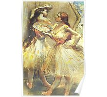 Edgar Degas French Impressionism Oil Painting Ballerinas Poster