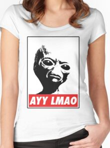 AYY LMAO Women's Fitted Scoop T-Shirt