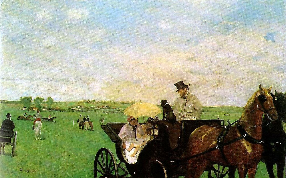 Edgar Degas French Impressionism Oil Painting Horse Buggy by jnniepce