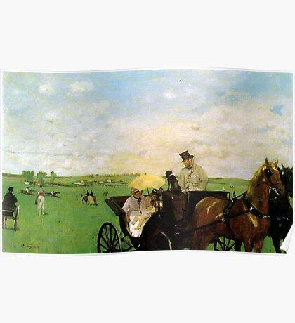 Edgar Degas French Impressionism Oil Painting Horse Buggy Poster