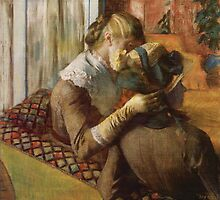 Edgar Degas French Impressionism Oil Painting Women Sitting by jnniepce