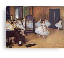 Edgar Degas French Impressionism Oil Painting Ballerinas Rehearsing Canvas Print