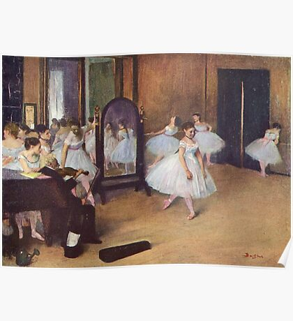 Edgar Degas French Impressionism Oil Painting Ballerinas Rehearsing Poster