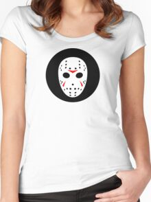 Halloween Hockey Mask Jason Friday 13th Ideology Women's Fitted Scoop T-Shirt